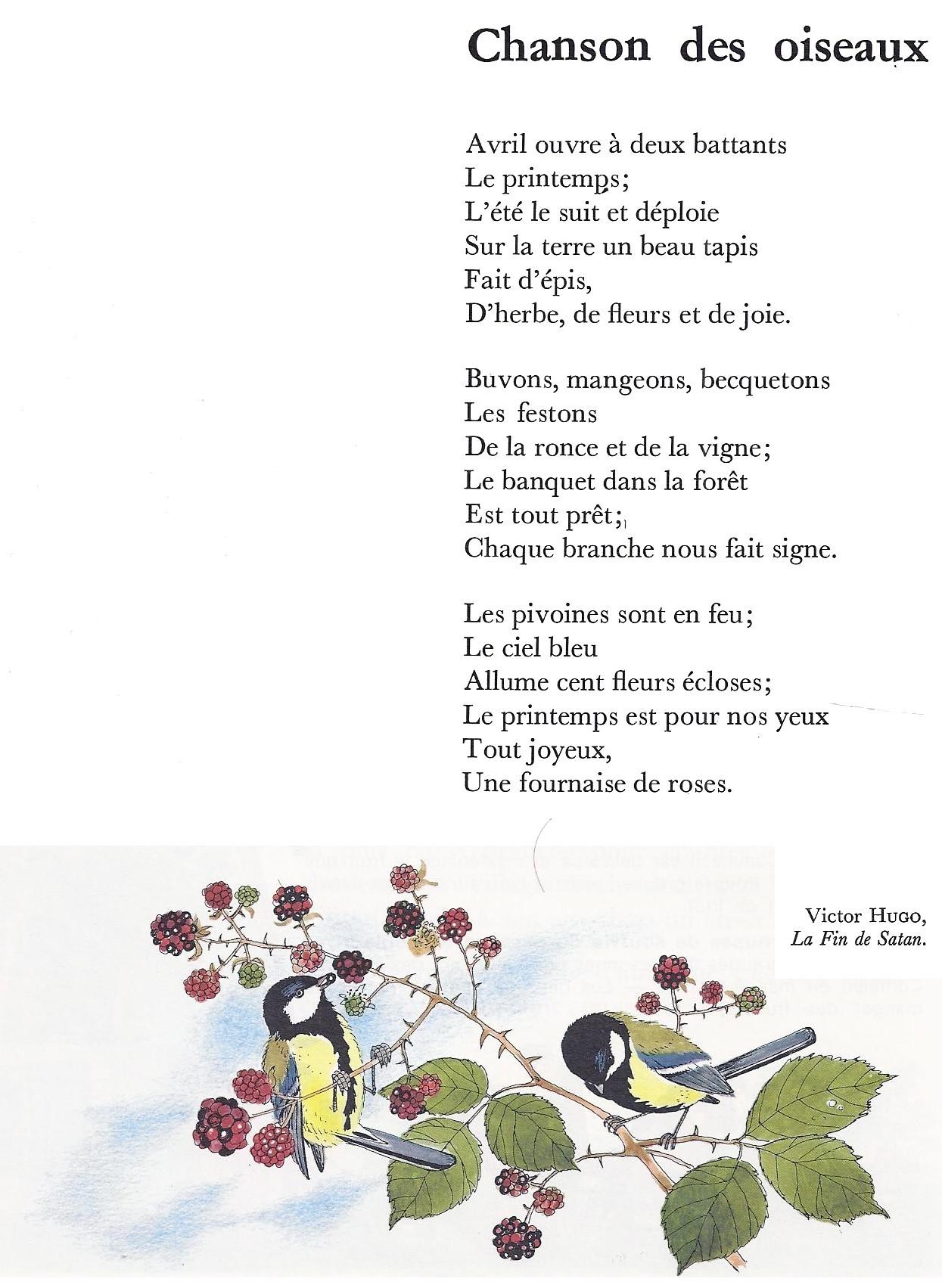 illustration de la poésie printemps de victor hugo