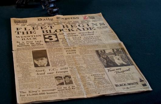 Un journal britannique de l'année 1939 /Flickr aimee rivers