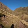 On quitte la piste de Caillabère pour monter à gauche Sud-Ouest (1700 m)