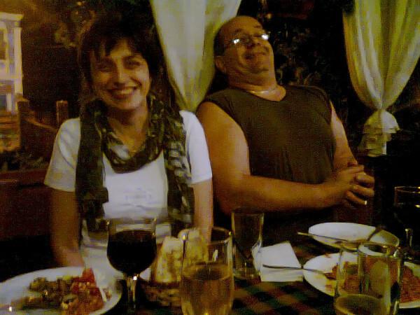 Jour 4 - Melnik - Maria et Kotse au restaurant