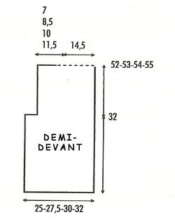 Gilet 2 sans manches schém 2