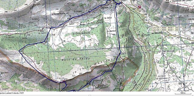 Montagne de Thiey, hameau de Canaux : dimanche 15 octobre