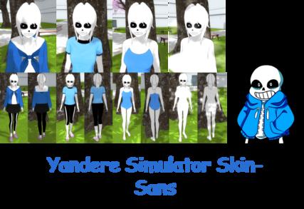 Yandere Simulator- Sans Skin by ImaginaryAlchemist