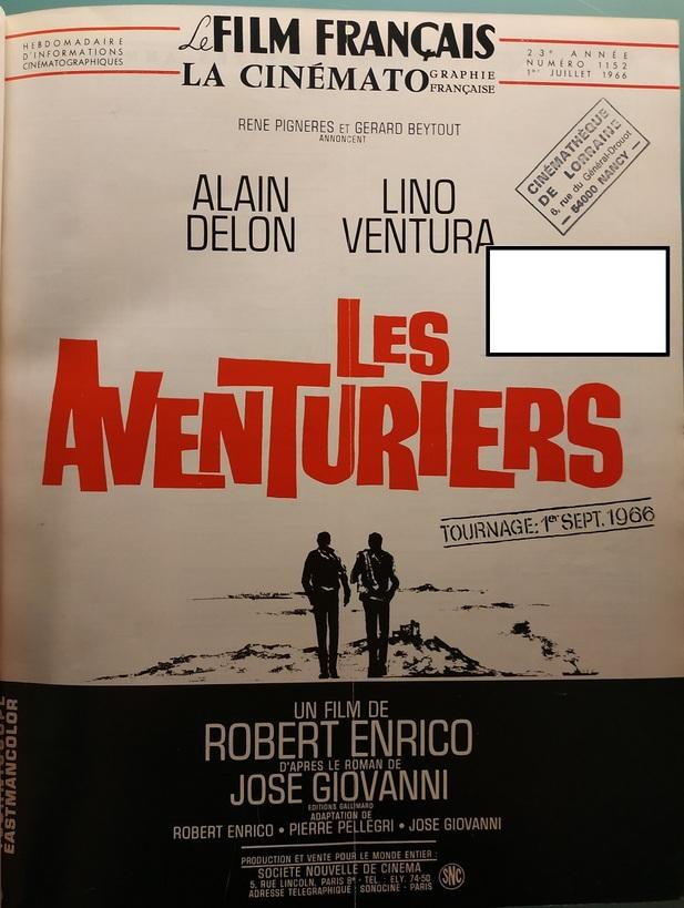 LES AVENTURIERS - ALAIN DELON BOX OFFICE 1967