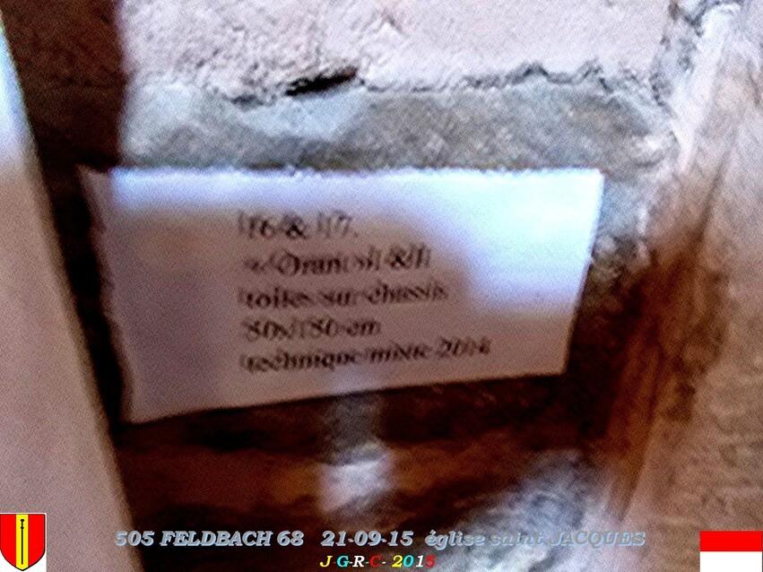 21/09/2015   EGLISE SAINT JACQUES  FELDBACH  68  2/4   D 14/02/2016