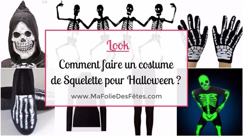 SQUELETTE - Comment faire un costume de squelette - tutos DIY