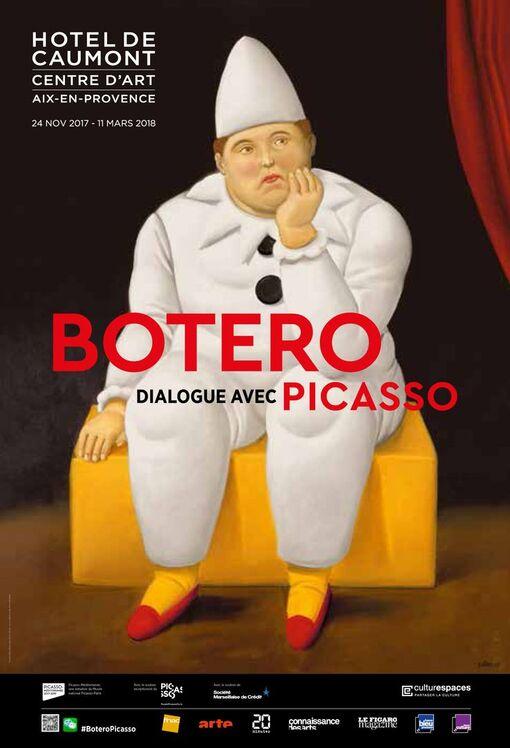 Fernando Botero, Pierrot, 2007, huile sur toile, collection privée © Fernando Botero