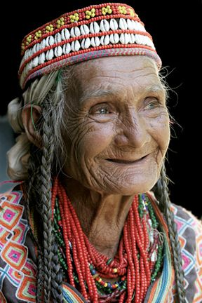 Pakistan | Portrait of an old Kalash woman | © Gulraiz Ghouri