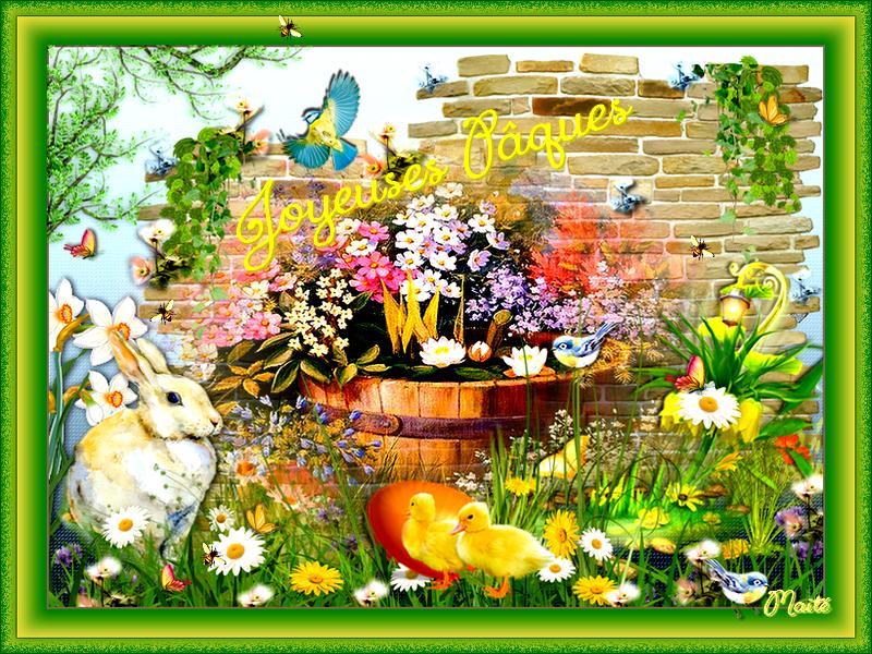 Belles Fêtes de Pâques ..