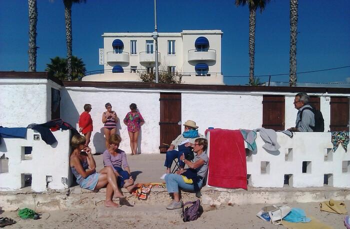 2014-10-29 Un coin de plage lieu de rencontre