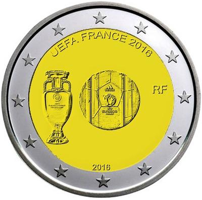 2  NOUVELLES PIECES DE 2.00 € POUR POUR LE CHAMPIONNAT D'EUROPE DE FOOTBALL