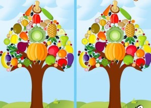 Vegetable tree difference