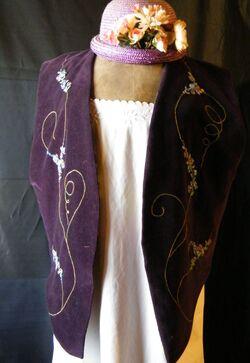 gilet velours violet devant