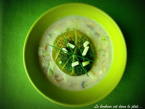 Paupiettes de saumon sauce champignons et pomme verte