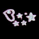 Stickers d'ongles cœurs étoilés blancs et strass
