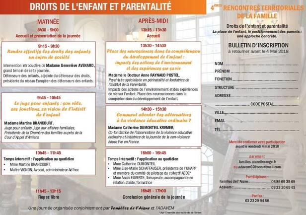 4è rencontres territoriale de la famille, le 15 mai 2018 à Saint-Quentin