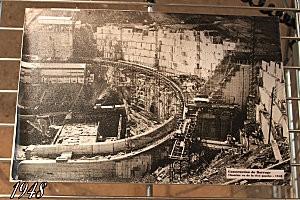 château de Val -12- construction du barrage de Bort
