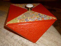 boite hexagonale et papier japonais
