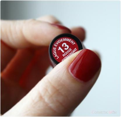 Rouge Extravagant n°13 - Laque Evidemment - Rouge Baiser