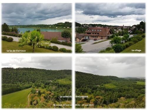 Le lac de Clairvaux et le Saut des Forges