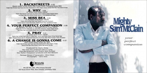 "Mighty Sam McClain : Mini Album "" Your Perfect Companion "" CD Orleans Records, Inc. OR-5386 [ US ]"