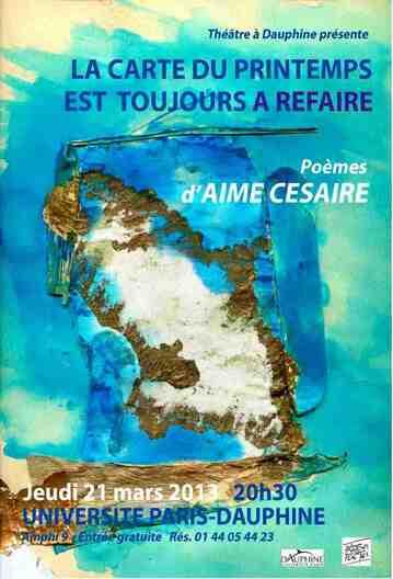 Aimé Césaire revisité à Paris-Dauphine, une mise en scène magistrale et  intimiste