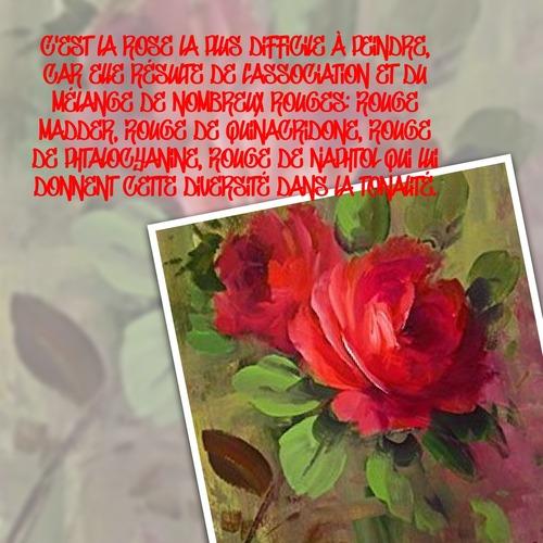 Dessin et peinture - vidéo 3591 : Comment apprendre à peindre l'univers des roses en 30 vidéos gratuites (la rose rouge) ? - acrylique ou huile.