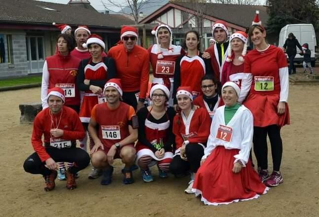 La course du Pére Noel à Beauchastel le 6 decembre 2016
