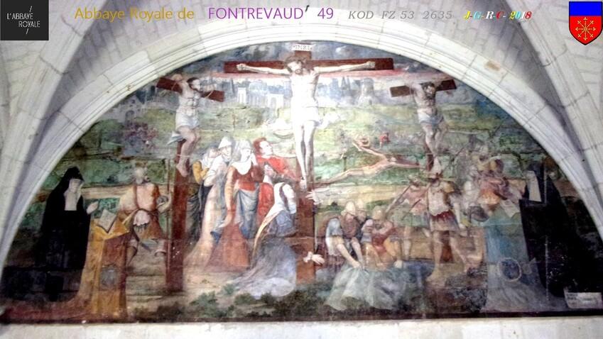 ABBAYE &  SITE  RELIGIEUX:  1/3 - 5/10 ABBAYE de  FONTREVAUD  49        D   02/05/2019