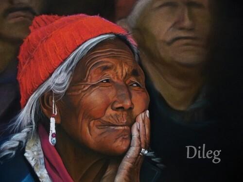 Vieille femme indienne