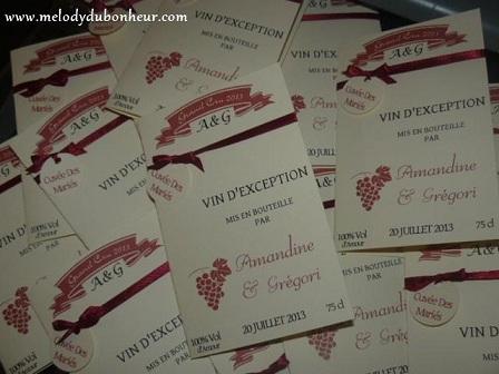 Faire part étiquette vin