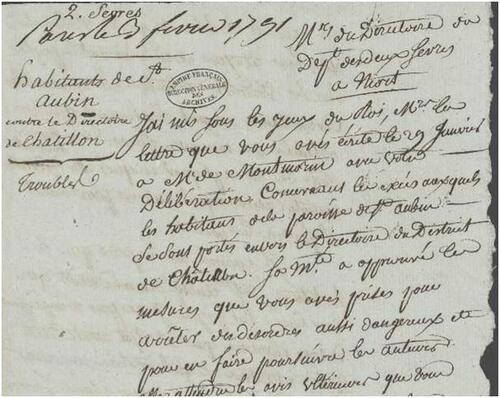 1791 : Châtillon et Saint-Aubin (2° partie)....