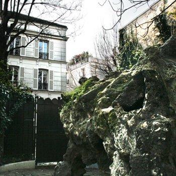 rocher et maison de la sorcière, montmartre