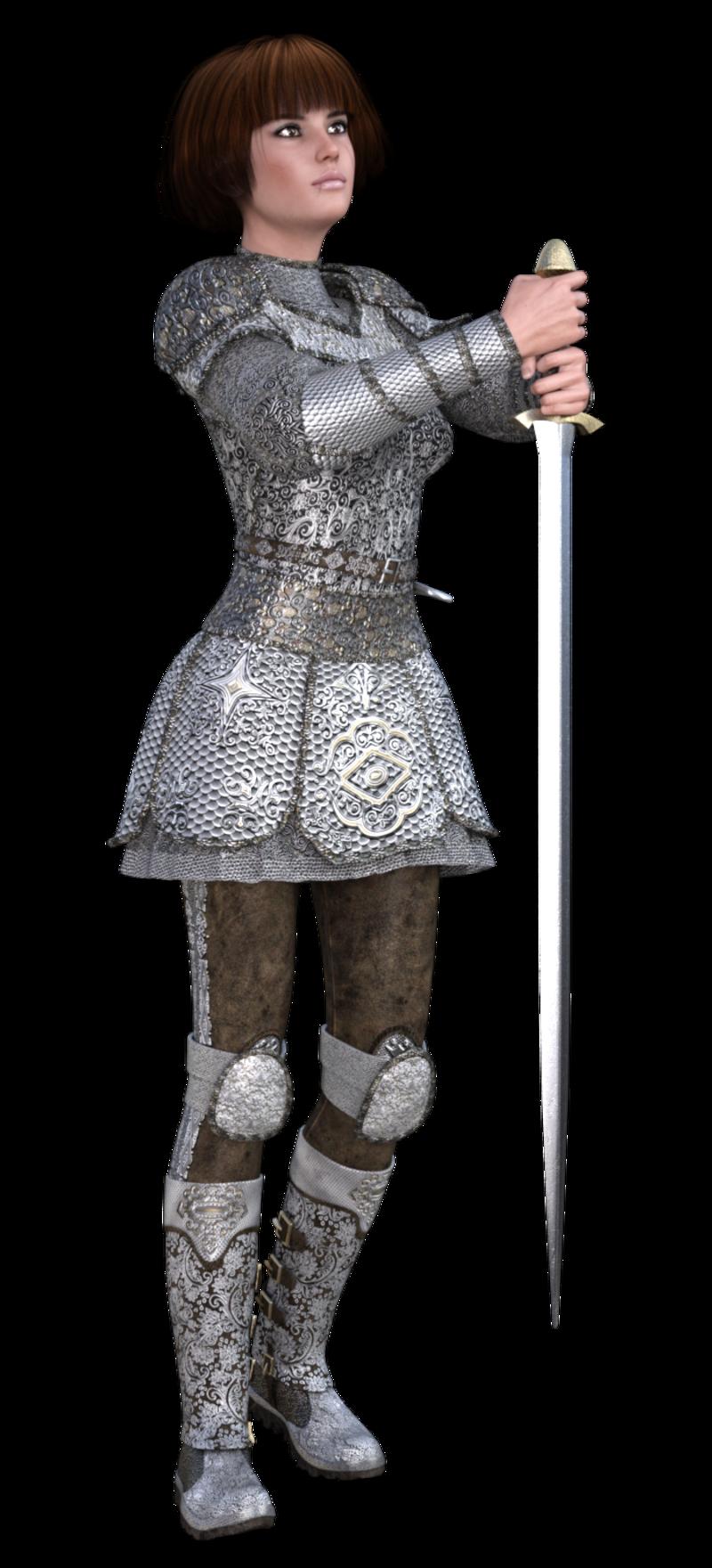 Image de Jeanne D'Arc (tube-poser-render)
