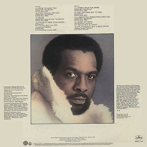 "William Bell : Album "" Coming Back For More "" Mercury Records SRM-1-1146 [US]"