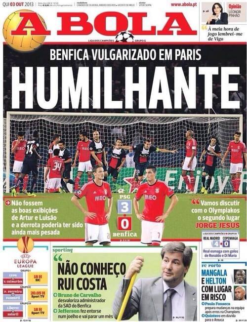 02/10/2013 - LDC Paris SG 3-0 Benfica