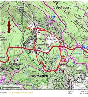 La Boucle pédestre de l'étang du Ticou depuis Pyrénées 2000.