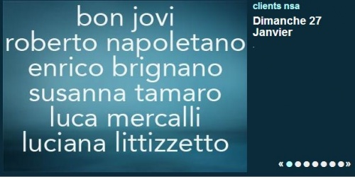 Bonjovi en Italie sur la chaîne Rai3 à 20h30 Le Dimanche 27 janvier 2013