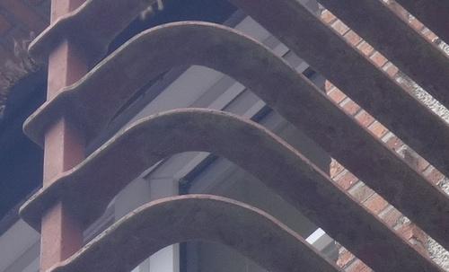 Le garde-corps du balcon du « Pont de Sologne » (et des « Magnolias »)