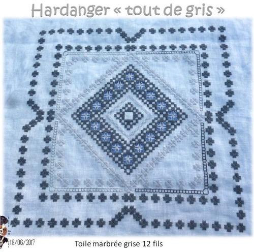 """Hardanger """"tout de gris"""" 5"""
