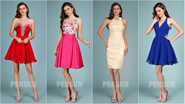 robes de soirée courtes pas cher 2019