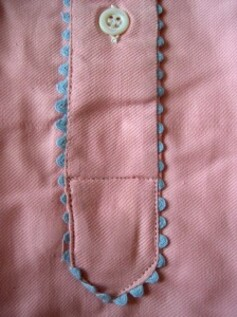 Chemise de nuit Finette rose bouton