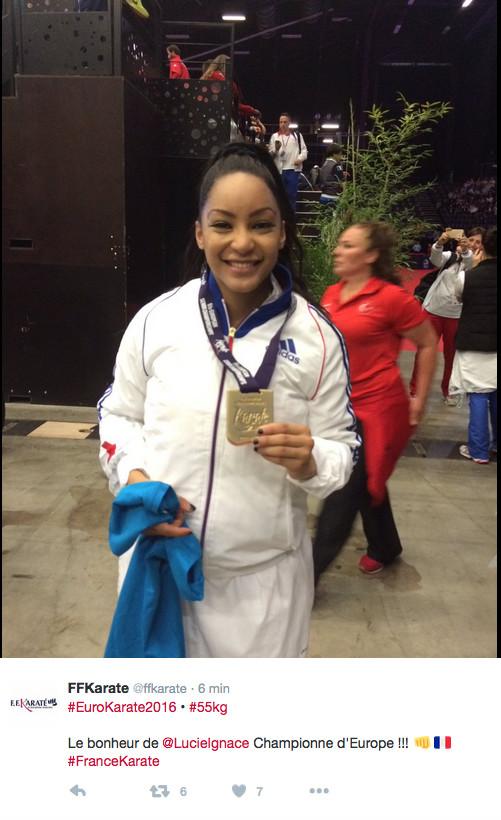 Lucie Ignace : une Réunionnaise championne d'Europe de karaté