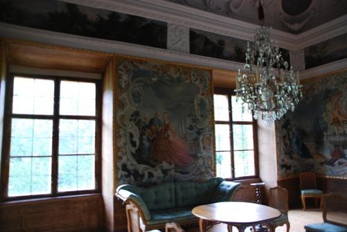 Les paons et le çâteau Eggenberg à Graz en Autriçe (photos)