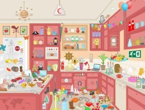 Messy kitchen - Hidden objects