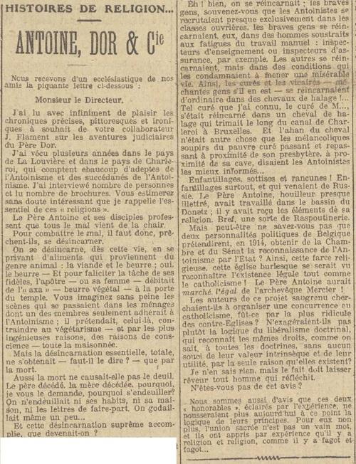 Antoine, Dor et Cie (Le XXe siècle 02 07 1917)