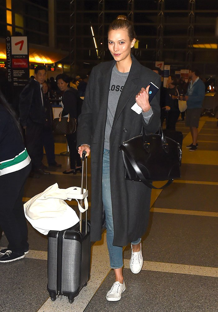 Karlie Kloss baskets blanches