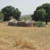 Togo Maisons sur le bord de la piste