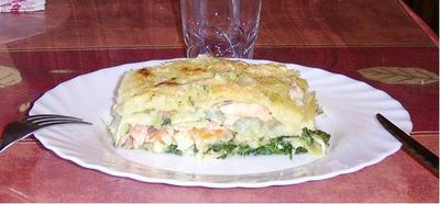 Blog de charlottopoire :Charlottopoire... mes petites créas..., Lasagne saumon épinards