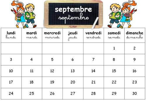 Calendriers 2018/2019